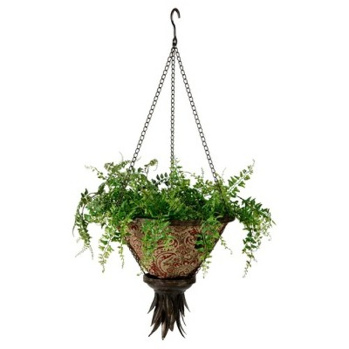 Sierra Hanging Fabric Planter With Venice Liner - Black - Bombay Outdoors