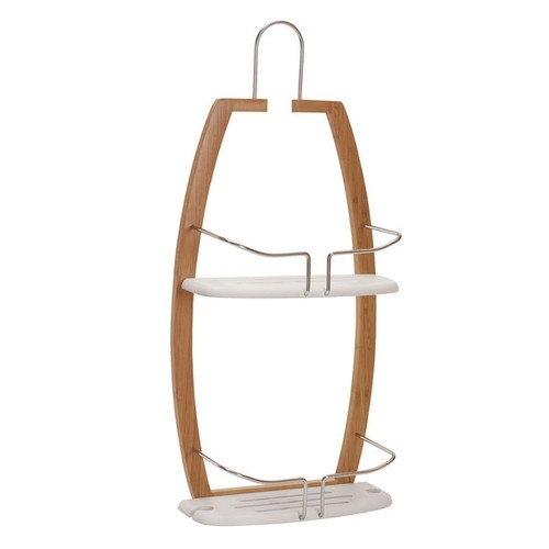 100% Love Bathroom Accessories Elements Bamboo Shower Caddy