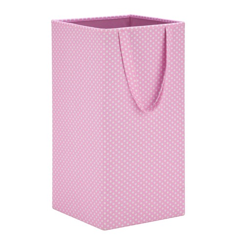 Honey-Can-Do Rectangular Collapsible Hamper with Handles in Pink