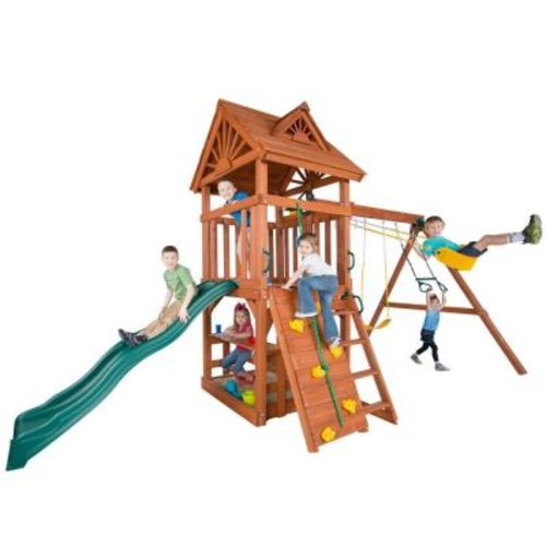 Swing-N-Slide Playsets Acrobat Wood Complete Playset