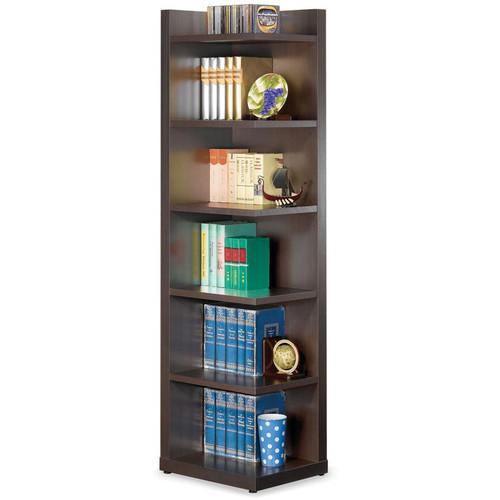 Venetian Worldwide Hughes Corner Bookcase in Cappuccino Finish