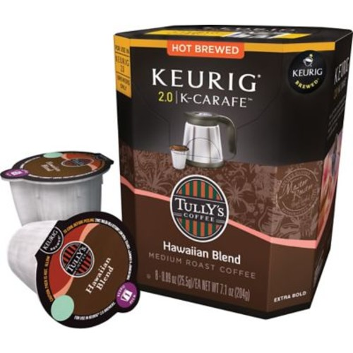 Keurig 2.0 K-Carafe Pack Tully's Hawaiian Blend Coffee, 8/Pack
