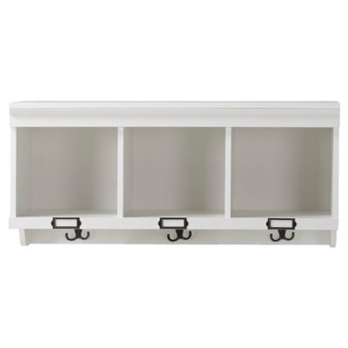 3 - Compartment Hanging Shelf - White - Homestar