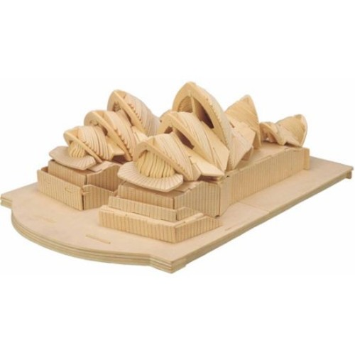 Puzzled, Inc. 3D Natural Wood Puzzle - Opera House