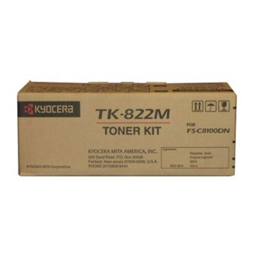 Kyocera TK822M Magenta Toner Cartridge