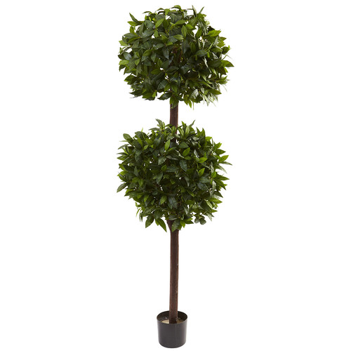 Nearly Natural 6 Sweet Bay Double Ball Topiary Silk Tree