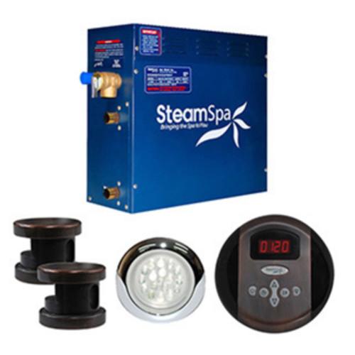 SteamSpa Indulgence 12kw Steam Generator Package in Oil Rubbed Bronze
