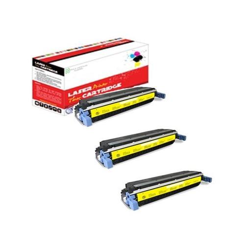 OWS Compatible Laser Toner Unit for 3 PK HP C9732A Yellow Compatible Toner Unit 5500 5500dn 5500dtn 5500hdn 5500n 5550 5550dn 5550dtn 5550hdn 5550n