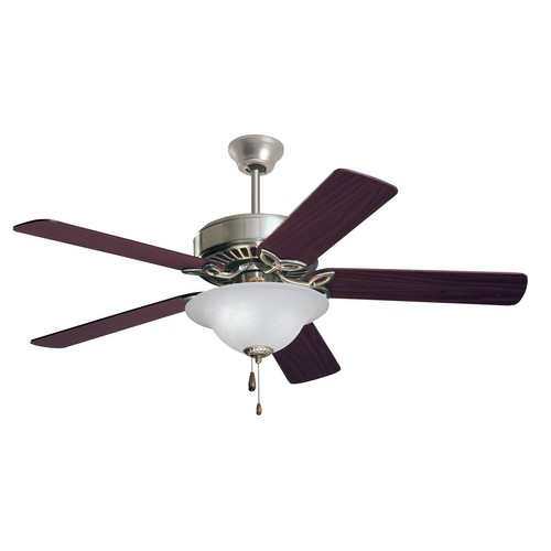 Emerson Ceiling Fans CF712BS Pro Series Indoor Ceiling Fan With Light, 50-Inch Blades, Brushed Steel Finish [Brushed Steel, 50-Inch, Pro Series]