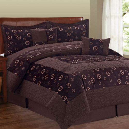 Peace Sign 6 Piece Comforter Set by Serenta