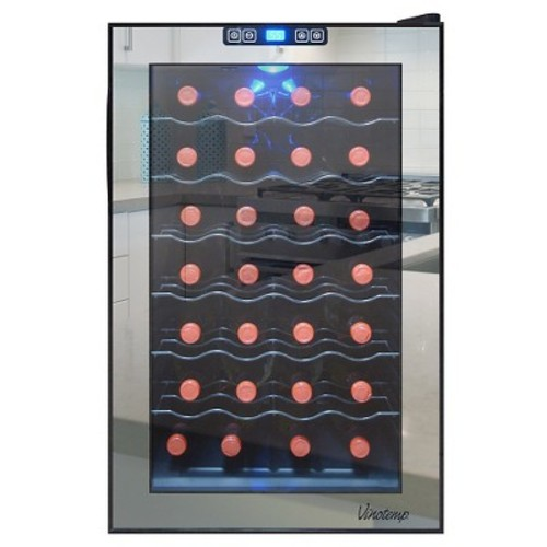 Vinotemp - 28-Bottle Wine Cooler - Black