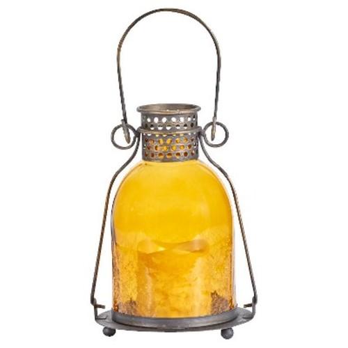 Smart Living Monaco Glass LED Candle Lantern - Amber