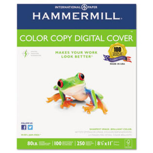 Hammermill/Hp Everyday Papers 12002-3 Copier Digital Cover Stock, 80 lbs., 8 1/2 x 11, Photo White, 250 Sheets