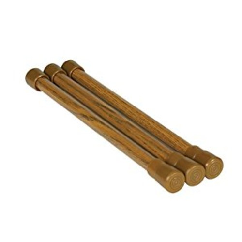 Camco 43833 Oak-Finish Cupboard Bar - 3 pack