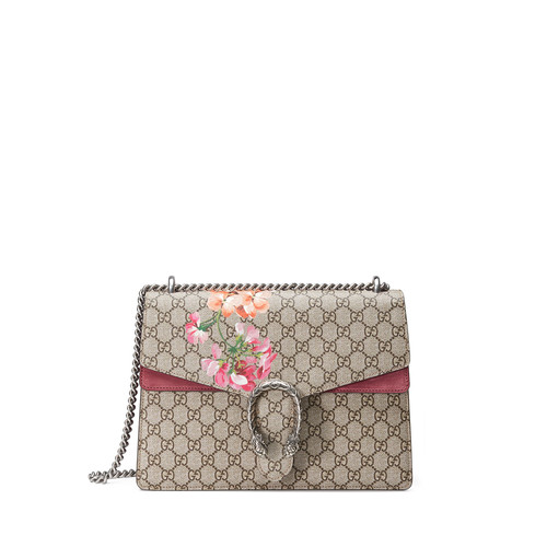 GUCCI Dionysus Gg Blooms Medium Shoulder Bag, Pink/Multi