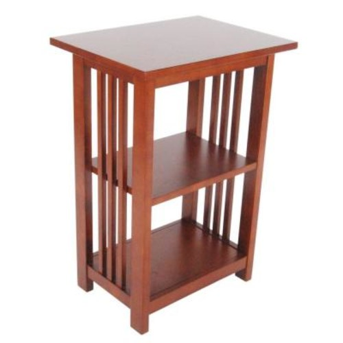 Alaterre Furniture Cherry 2-Shelf End Table