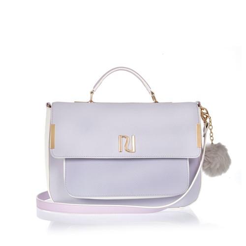 Light purple large satchel bag