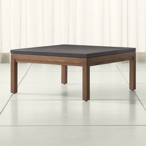 Parsons Pine Top/ Elm Base 36x36 Square Coffee Table
