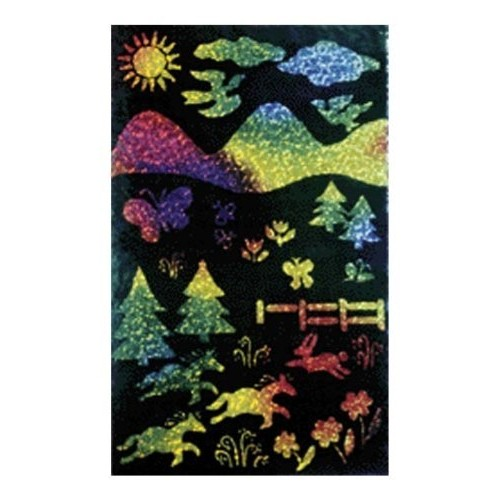 Melissa & Doug Scratch Art Scratch and Sparkle, Multicolor Glitter Board, 10-Pack