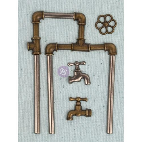 Junkyard Findings Metal Embellishments-Pipe Parts
