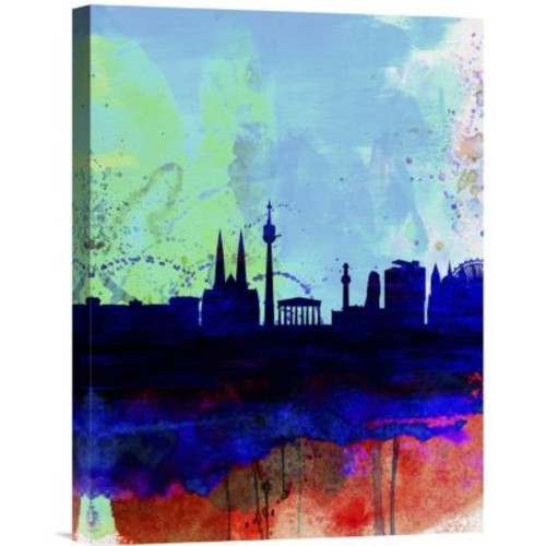 Naxart 'Vienna Watercolor Skyline' Graphic Art on Wrapped Canvas; 16'' H x 12'' W x 1.5'' D