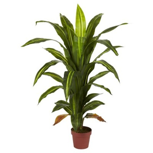 Nearly Natural Dracaena Silk Plant Green (Real Touch) (4
