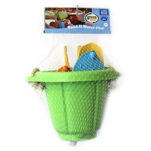 Green Toys Sand & Water Play Bucket & Sport Boats Set