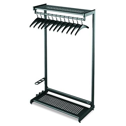 Quartet Two-Shelf Garment Rack, Freestanding, 48 Inch, Black, 12 Hangers Included (20224)