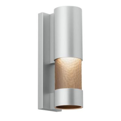 LBL Lighting Moon Dance 18 in. Silver Outdoor LED Sconce