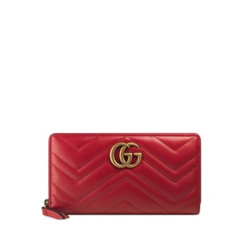 GUCCI Gg Marmont Matelassé Leather Zip-Around Wallet