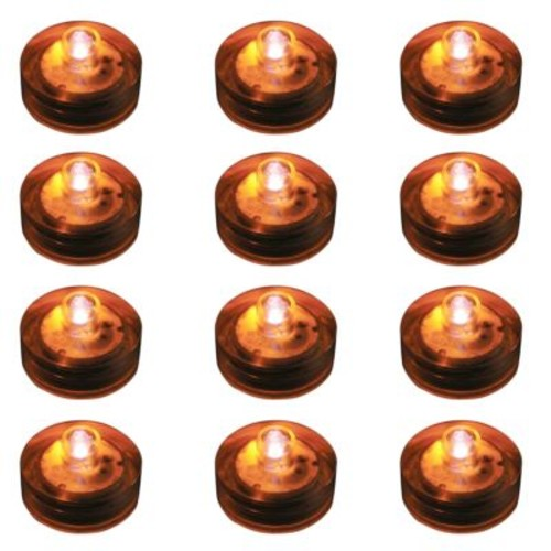 Lumabase Orange Submersible LED Lights (Box of 12)