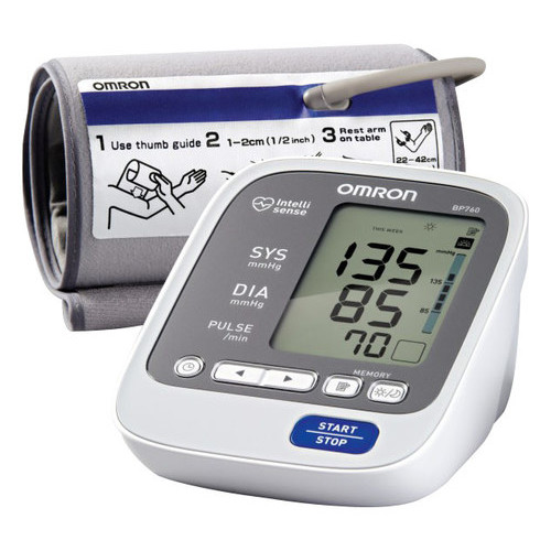Omron - 7 SERIES Advanced Accuracy Upper Arm Blood Pressure Monitor - White/Silver