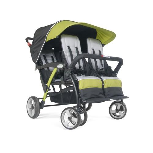 Foundations Quad Sport 4-Passenger Stroller, Lime