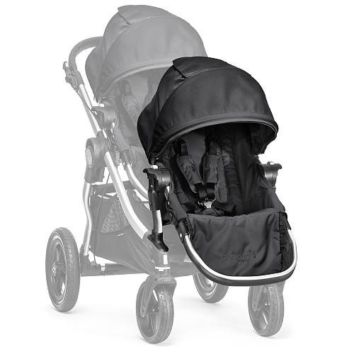 Baby Jogger City Select Second Seat Kit with Silver Frame, Onyx [Onyx, City Select Second Seat Kit]