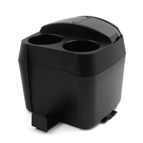 Home Office Vehicle Car Plastic Garbage Storage Container Cup Tissue Box Holder Black