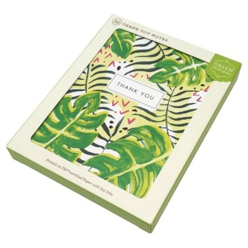 10ct Tropical Thanks Thank You Cards