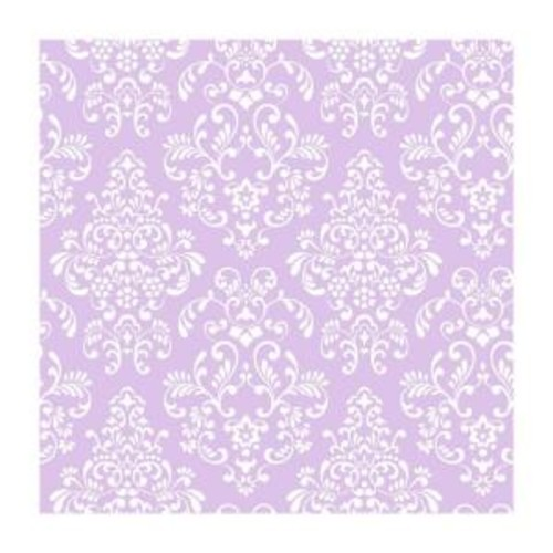York Wallcoverings Peek-A-Boo Delicate Document Damask Wallpaper Color: Lavender / White