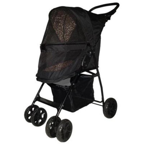Pet Gear 21.5 in. x 11.5 in. x 17 in. Jaguar Happy Trails Lite No-Zip Pet Stroller
