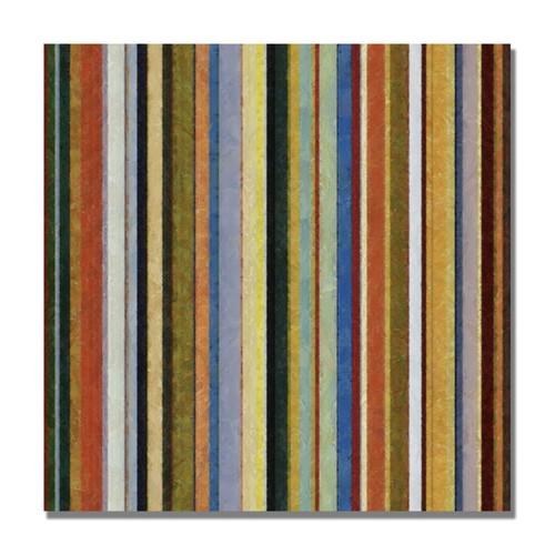 Trademark Fine Art Michelle Calkins 'Comfortable Stripes V' Canvas Art 35x35 Inches