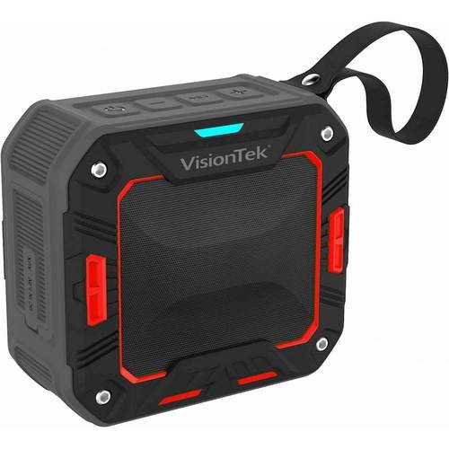VisionTek - BTi65 Portable Bluetooth Speaker - Black and Red