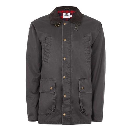 Khaki Corduroy Collar Jacket
