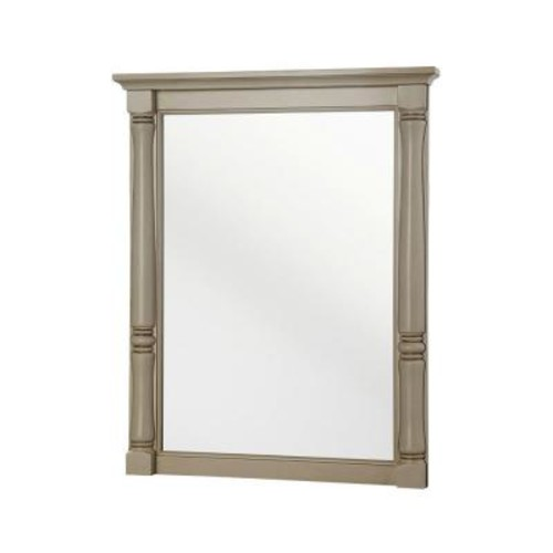 Home Decorators Collection Albertine 30 in. L x 24 in. W Framed Wall Mirror in Creamy White