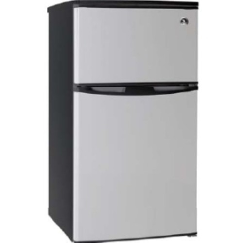 Igloo 3.2 Cu Ft Compact Fridge Stainless Steel-2 Door - 3.20 ft - Reversible - Stainless Steel, White