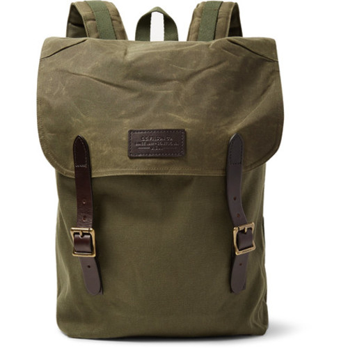 Filson - Ranger Leather-Trimmed Twill Backpack