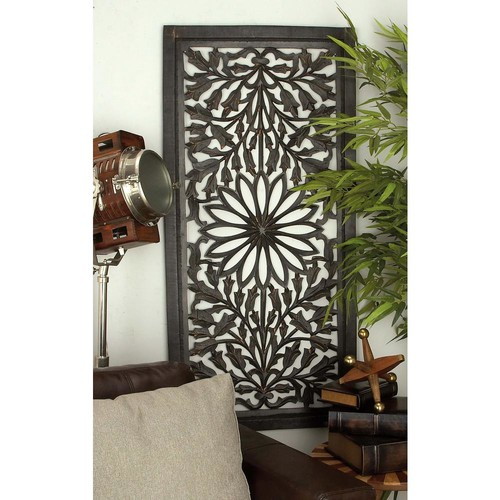 51 in. x 24 in. Traditional Decorative Wooden Wall Panel
