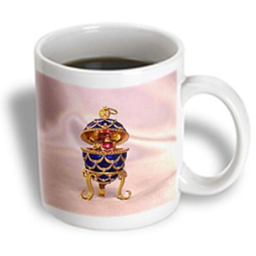 3dRose - Faberge Eggs - Picturing Pinecone Fabergeu0026#174; Egg - 15 oz mug