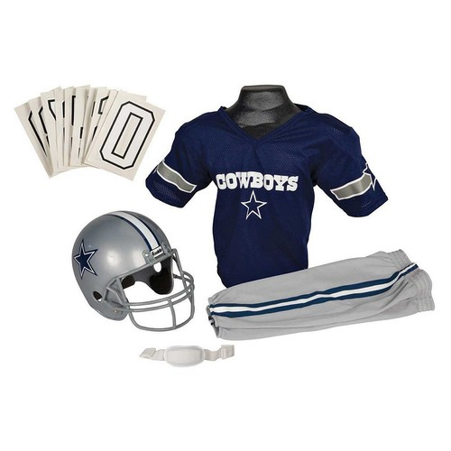 Franklin Sports NFL Deluxe Youth Uniform Set [Small, Dallas Cowboys]