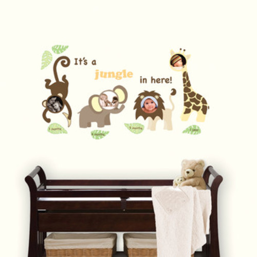 Wall Art Kit Jungle and Friends Photo Frame Wall Decal