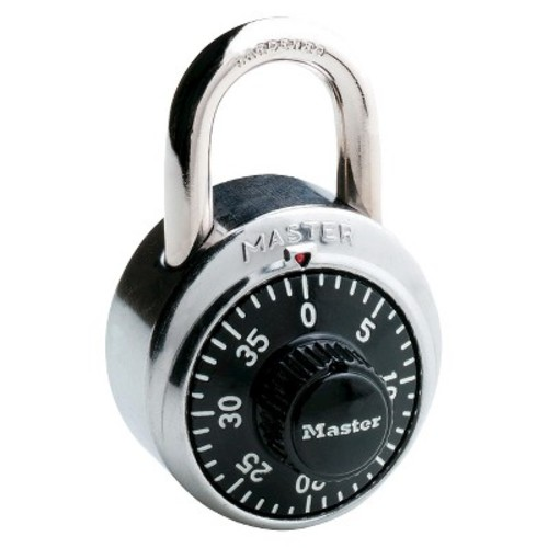Master Lock Dial Combination Padlock - Black