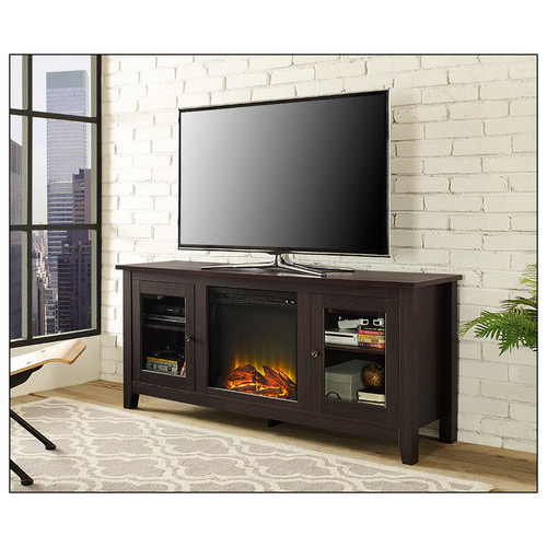Walker Edison - Electric Fireplace for Most Flat-Panel TVs Up to 60